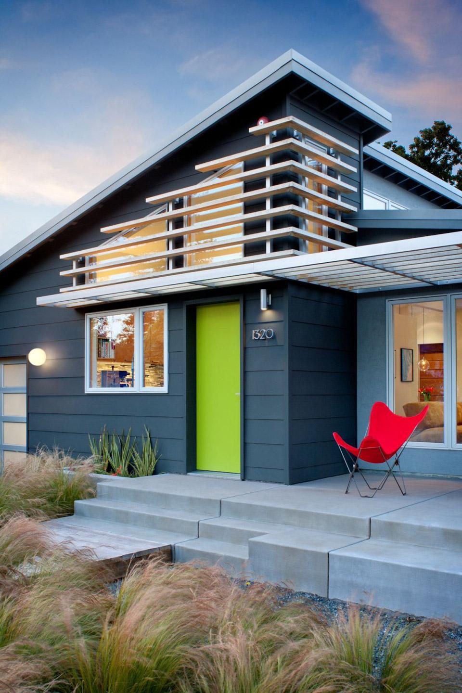 Mały dom, Kalifornia, kolorowy