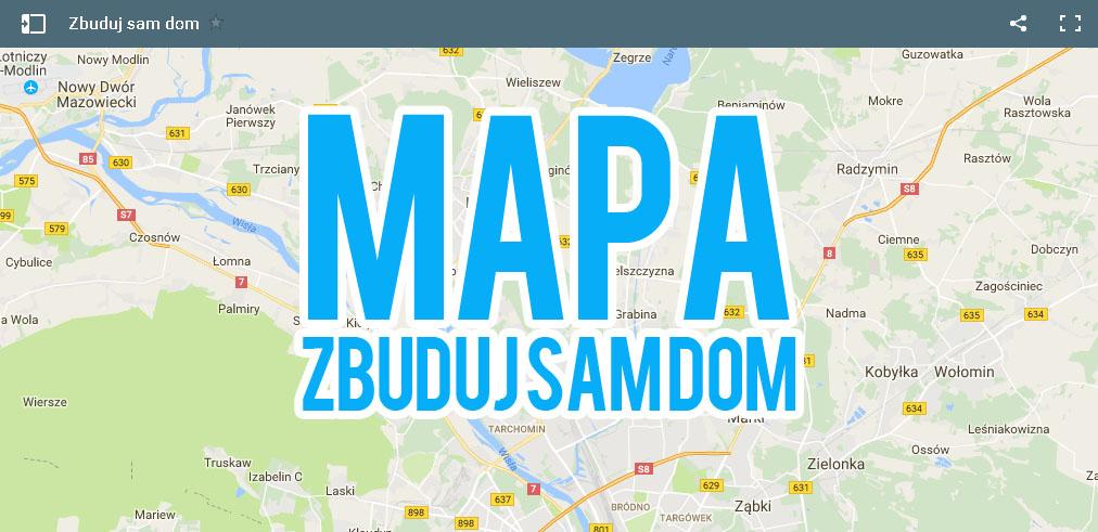 Mapa budujących domy, szukających działki na spółkę