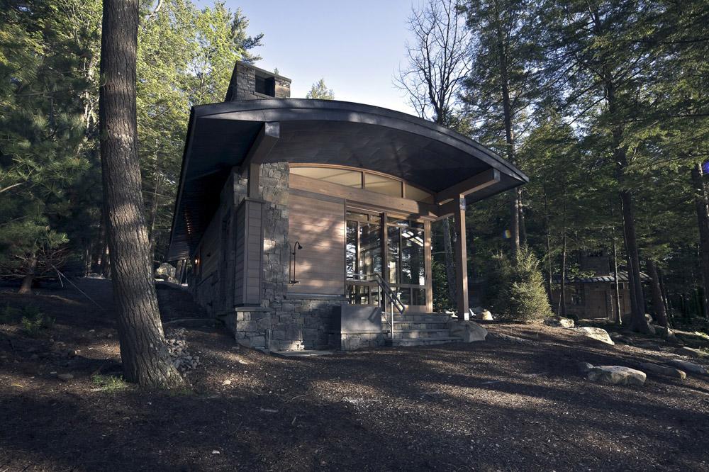 Nietypowy dom, Sebago Lake, Maine, budowa domu