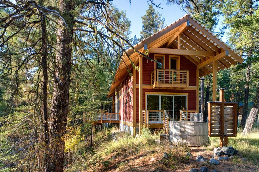 Domek drewniany, spory domek z bardzo dużą ilością światła, zbuduj sam dom