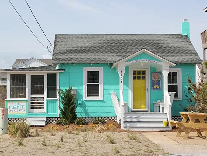 Niebieski domek, budowa domu