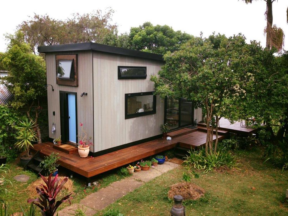 Mały domek w Australii, dom bez pozwolenia na budowę