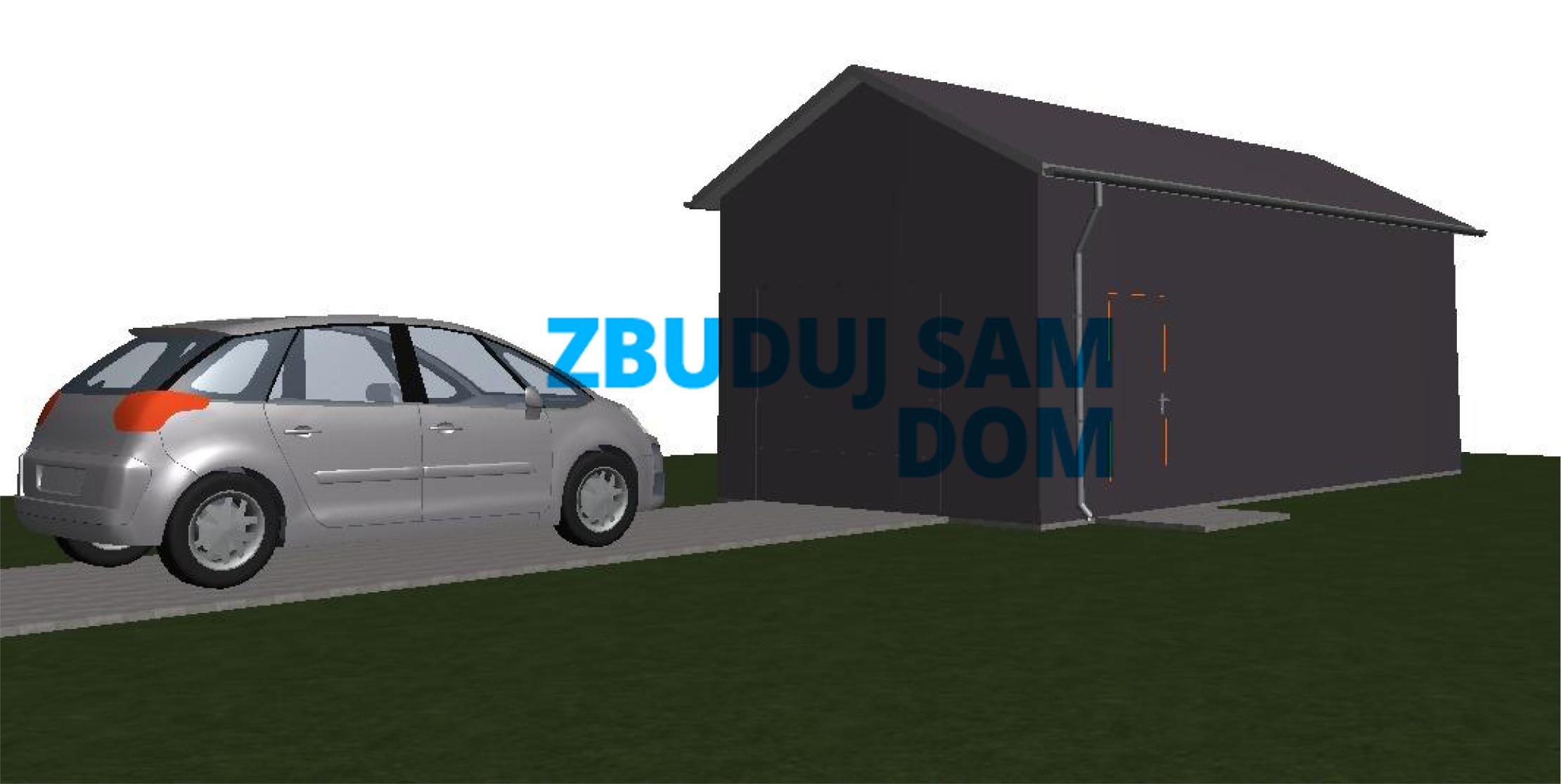 Garaż bez pozwolenia na budowę, projekt garażu, garaż 35m2, garaż na zgłoszenie