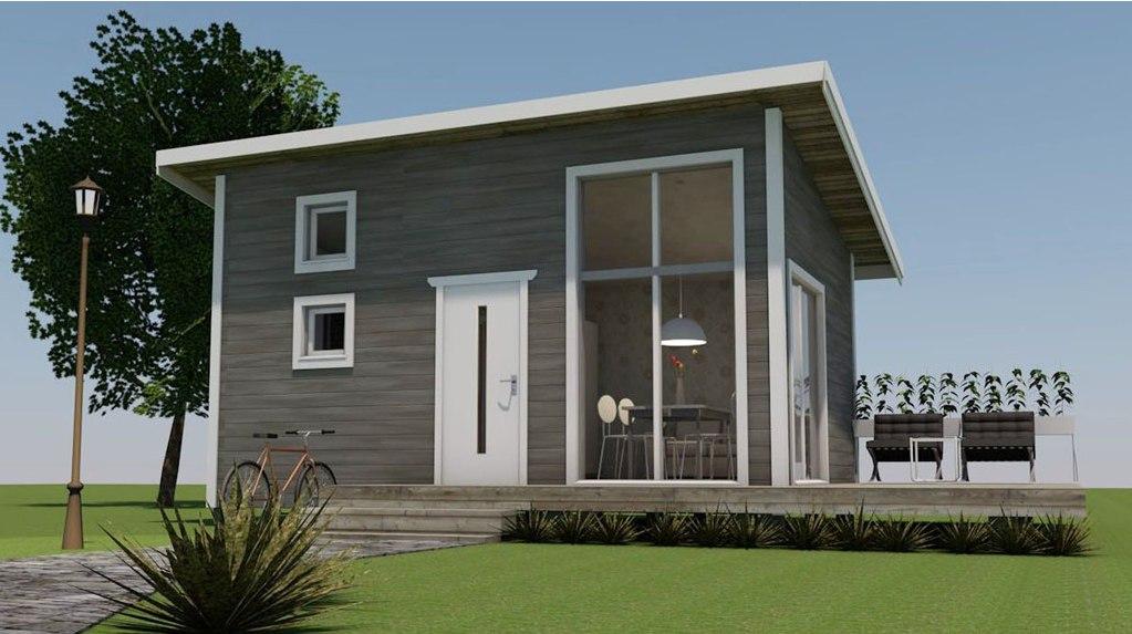 Wizualizacja małego domu
