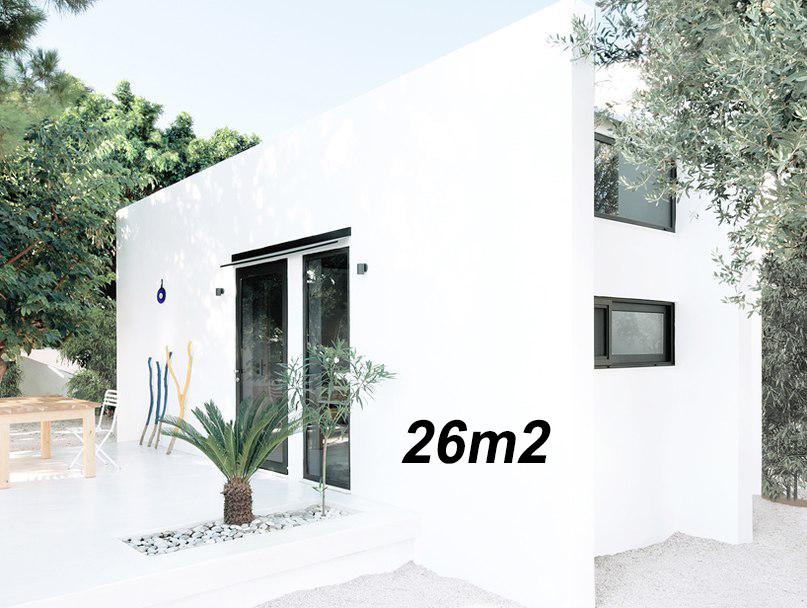 Dom bez pozwolenia na budowę, 26m2