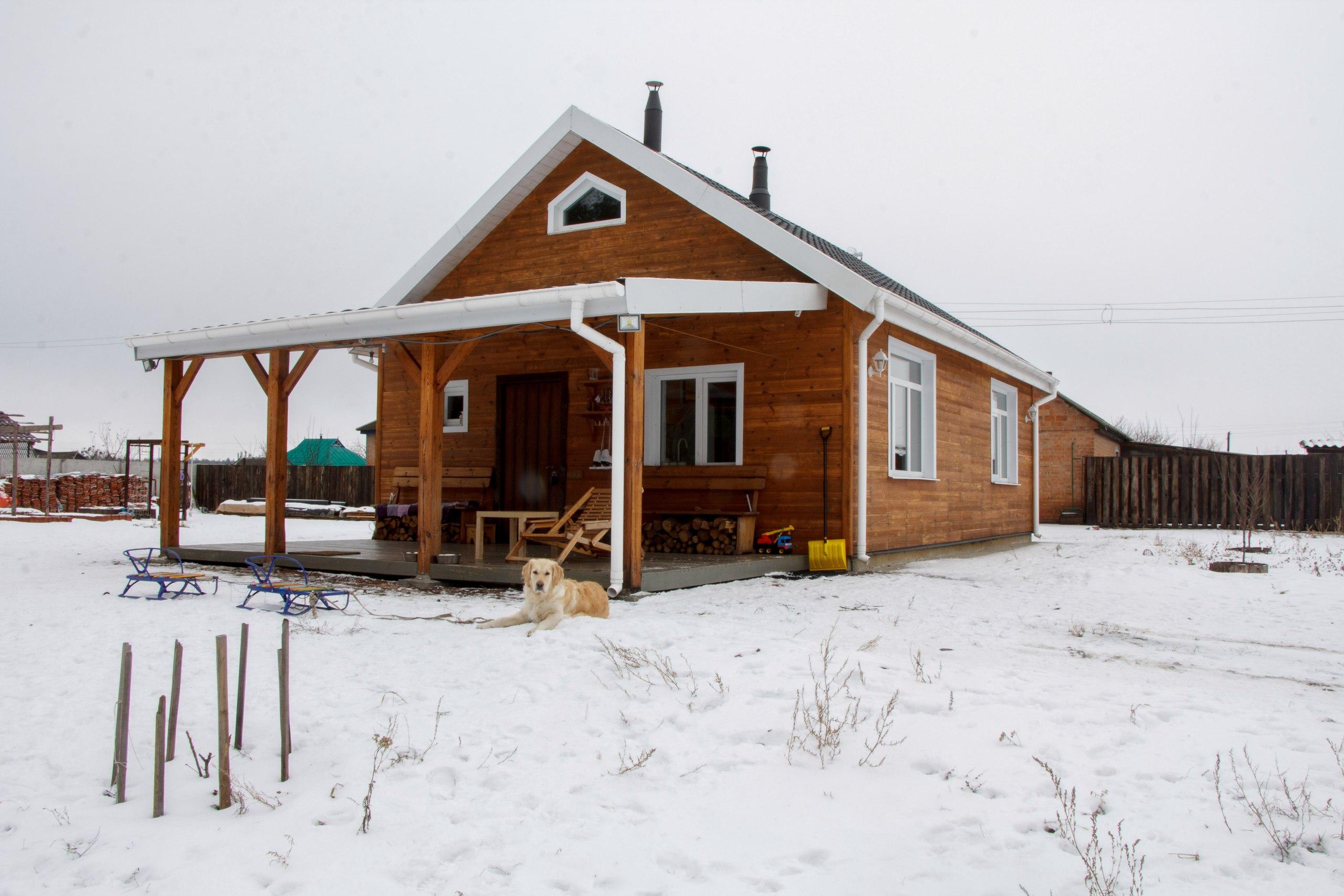 Mały dom, budowa domu, Ukraina, Połtawa, 50m2