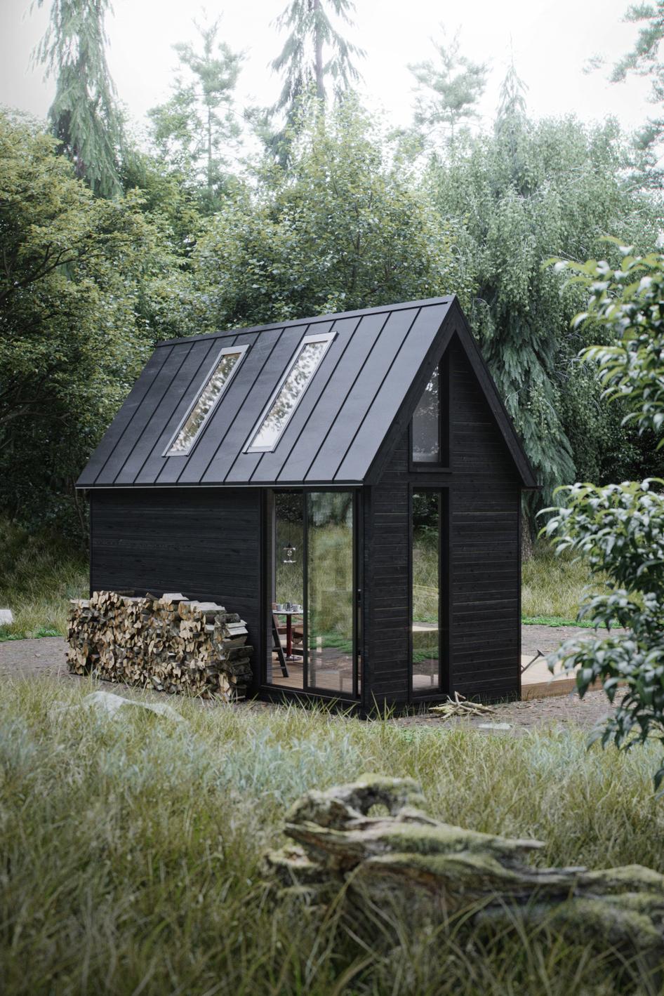 Prototyp małego domku wykonany w programie 3d