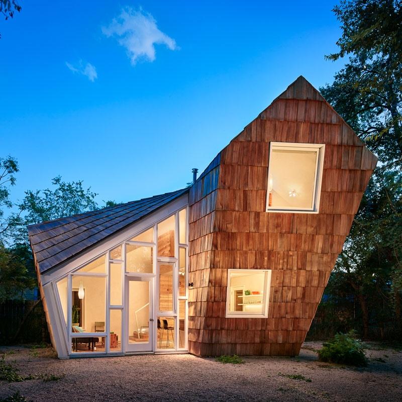 Dom o ciekawym kształcie