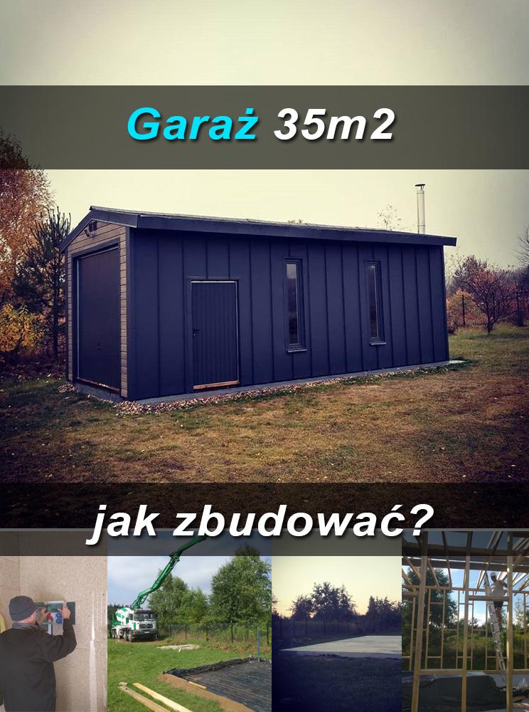 Garaż bez pozwolenia, jak zbudować garaż szkieletowy, budowa garażu, garaż 35m2