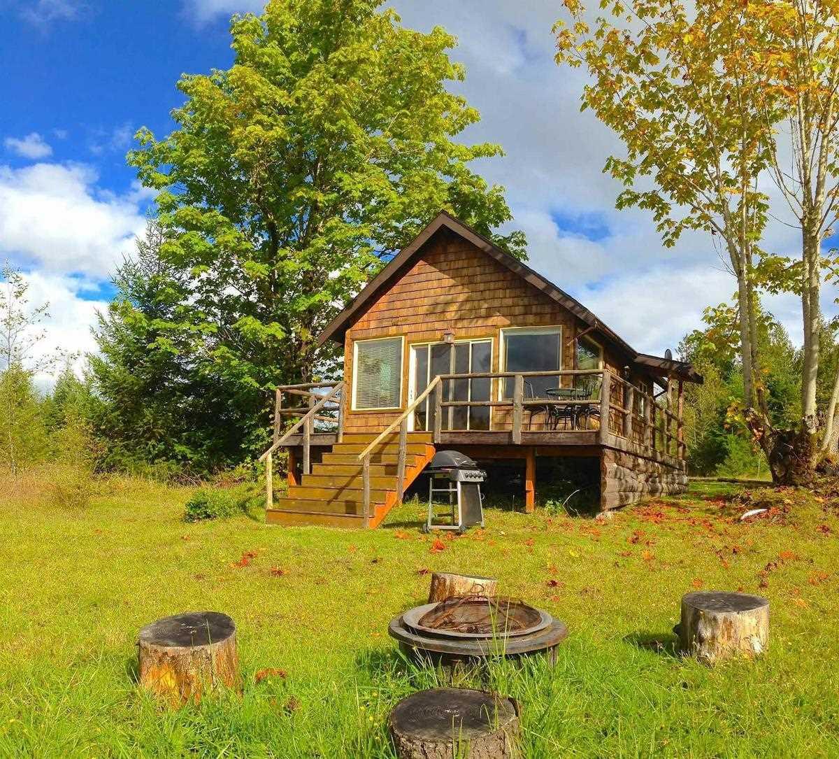 Mały dom drewniany