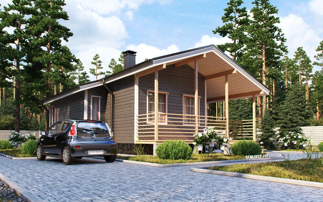 Dom drewniany w fińskim stylu