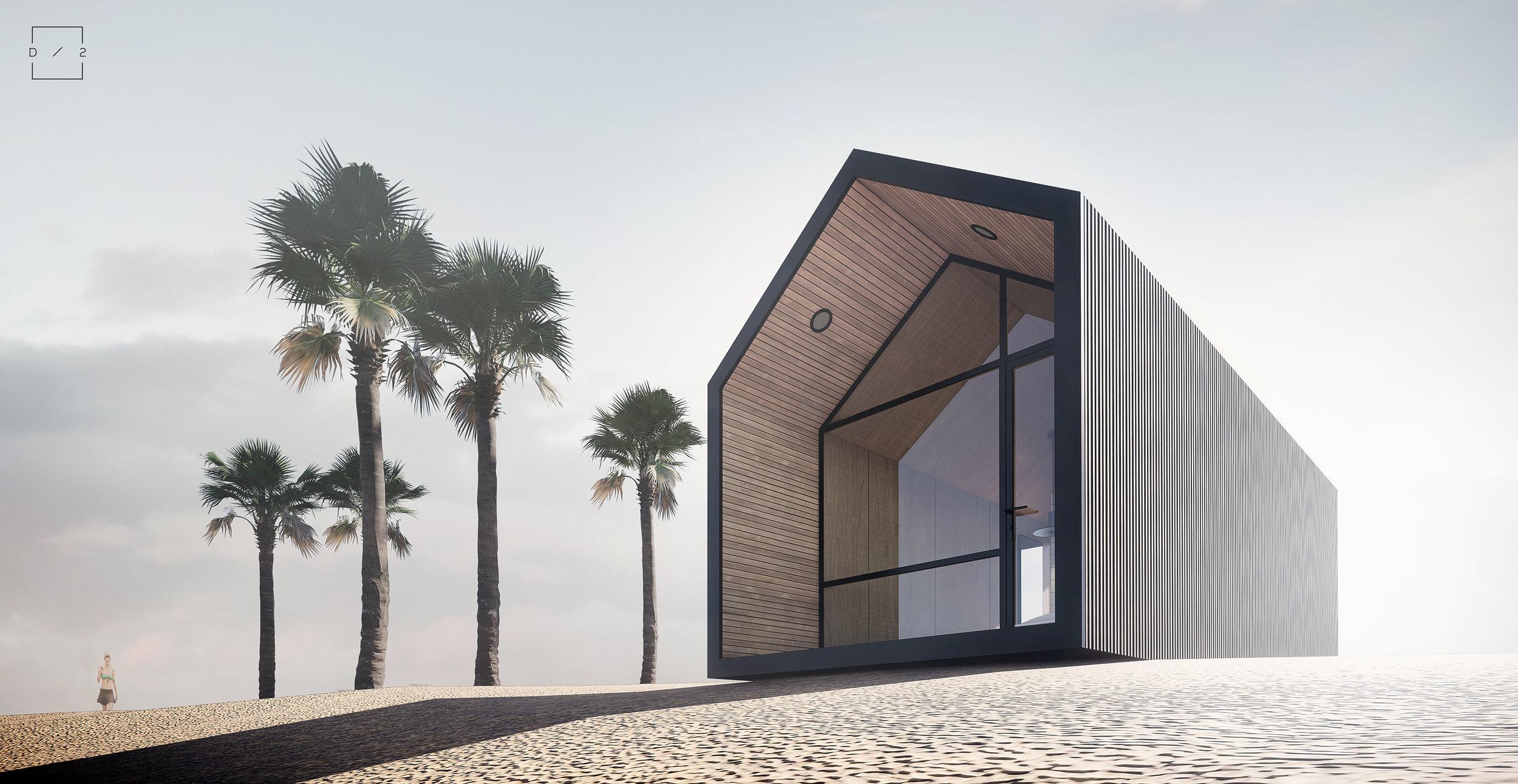 Domek nad morzem, mini dom