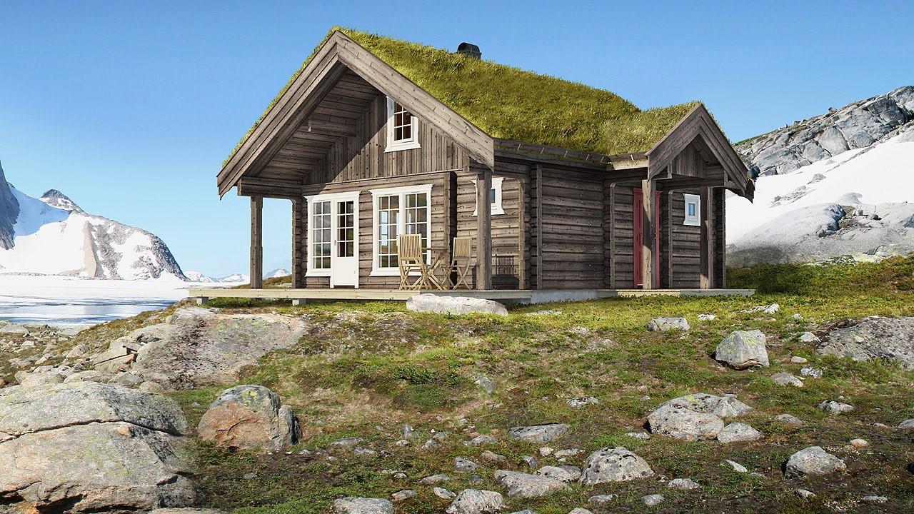 Domek 35m2, projekt z Norwegii
