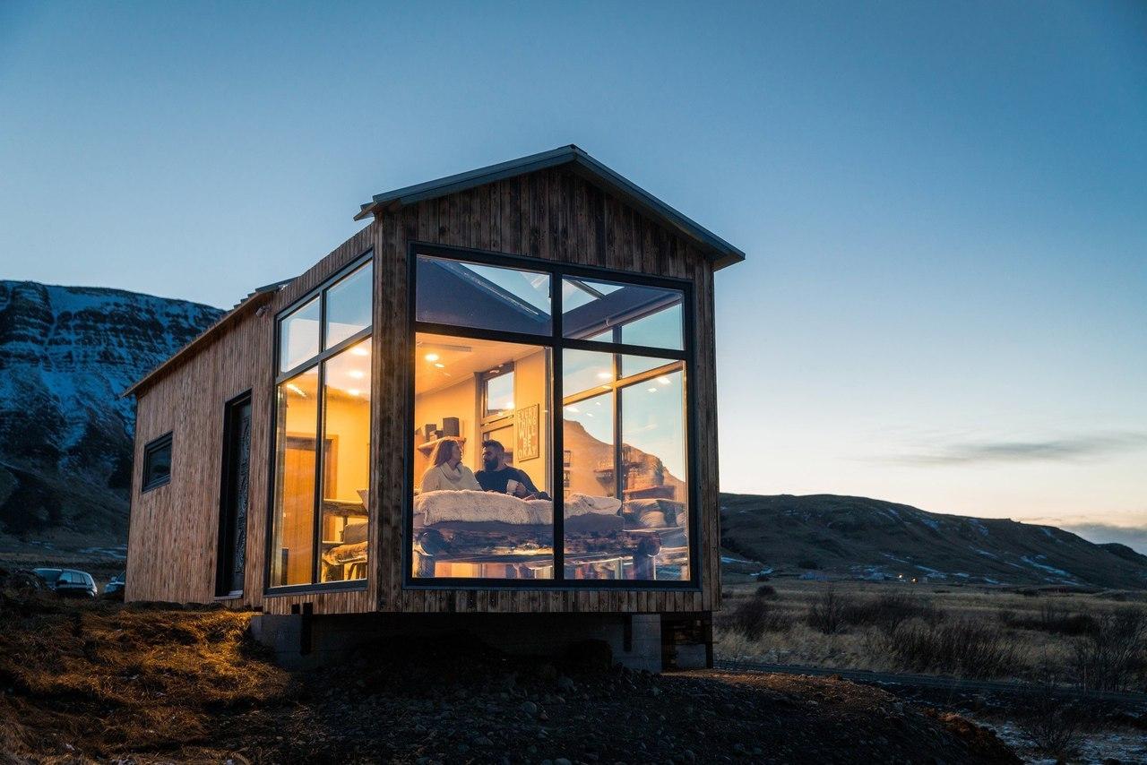 Mały domek na Inslandii