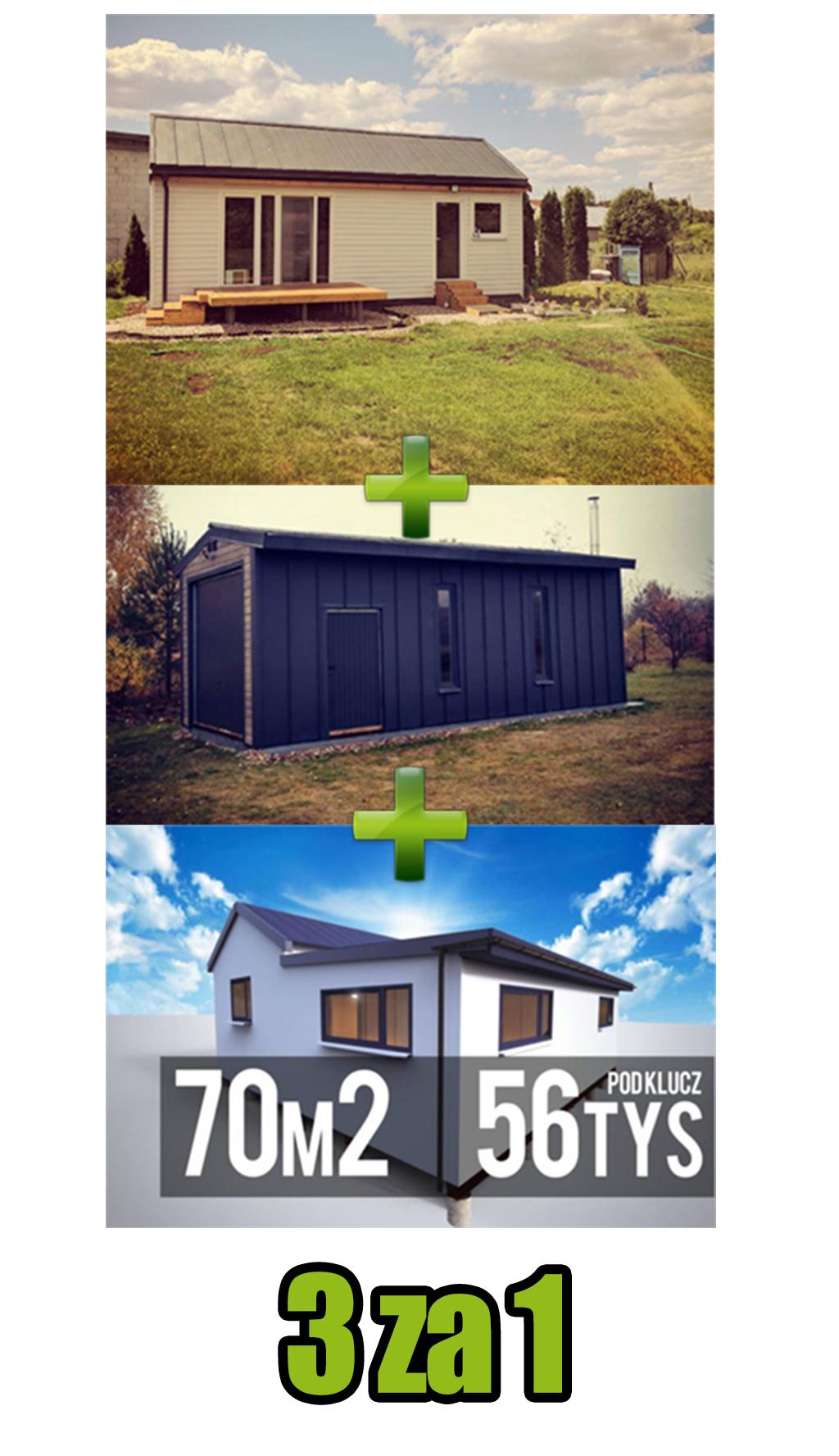 Ostatnie 3 dni promocji, garaż 35m2 i rozbudowa gratis
