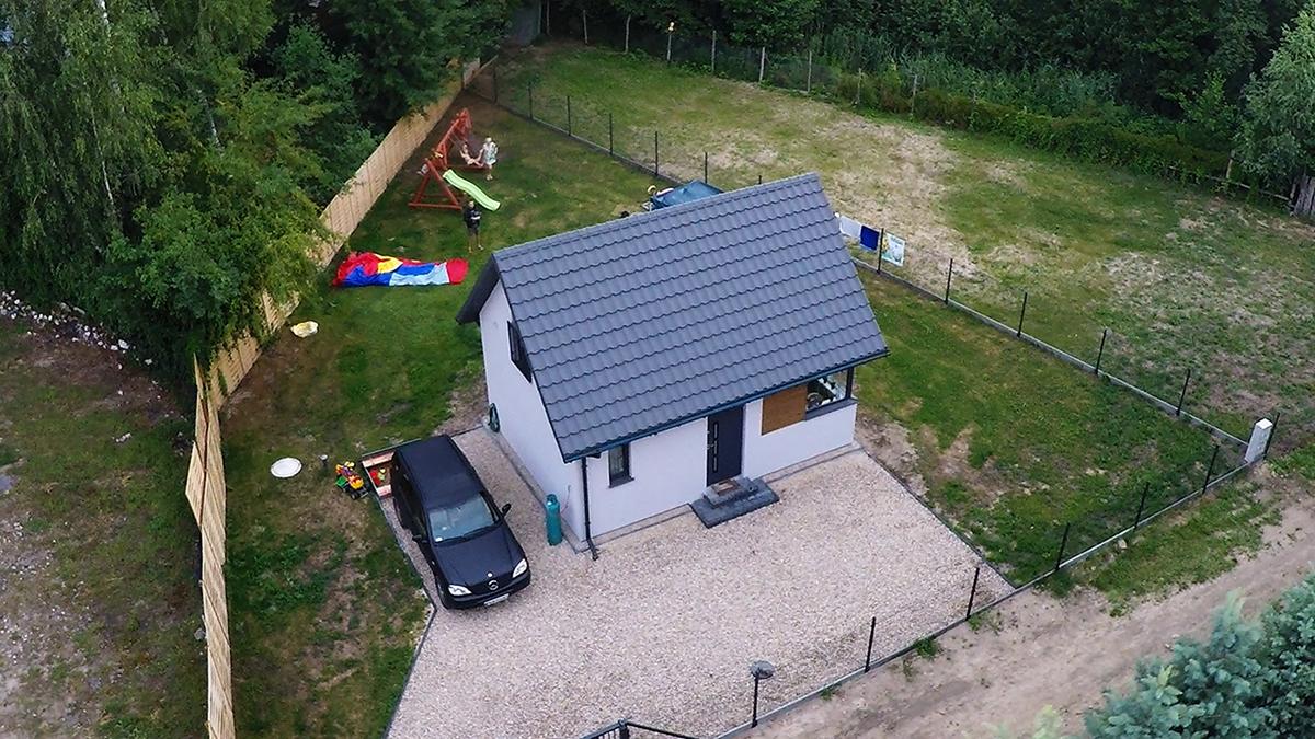 Dom 35m2 z antresolą, dom bez pozwolenia na budowę