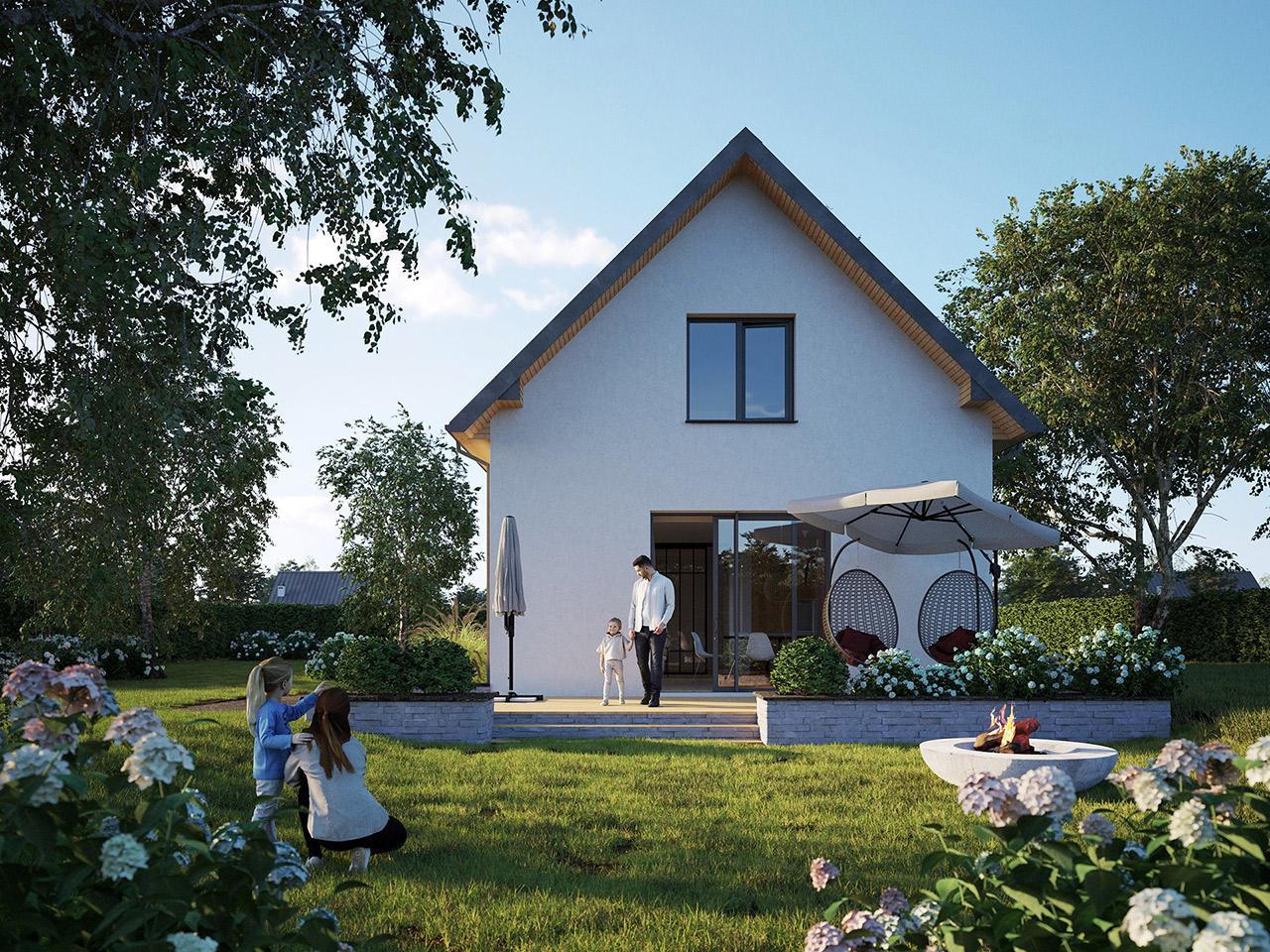 Projekt domu z poddaszem 116m2 za 145tys