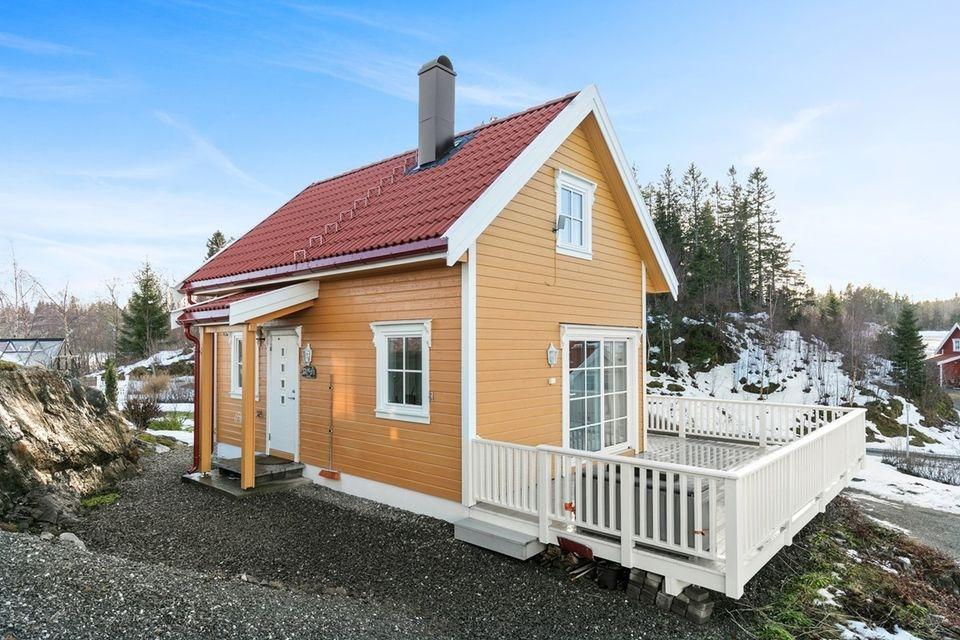 Dom z tarasem do 35m2 zabudowy