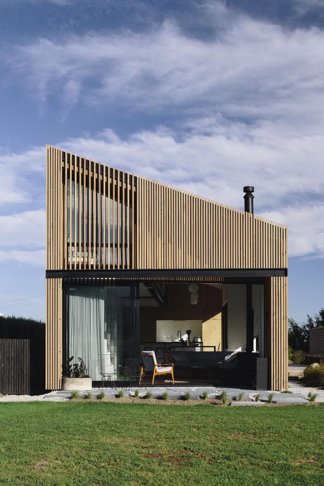 Dom do 100m2, ciekawy projekt z Nowej Zelandii