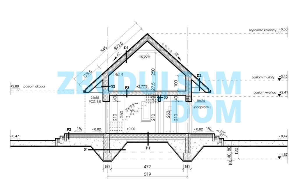 rzut projekt 70m2